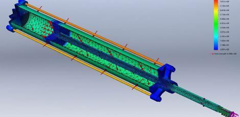 Hydraulic Piston FEA